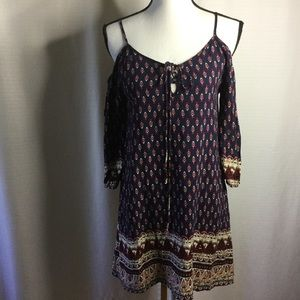 BLU PEPPER ModCloth Boho Cold Shoulder Peep Dress